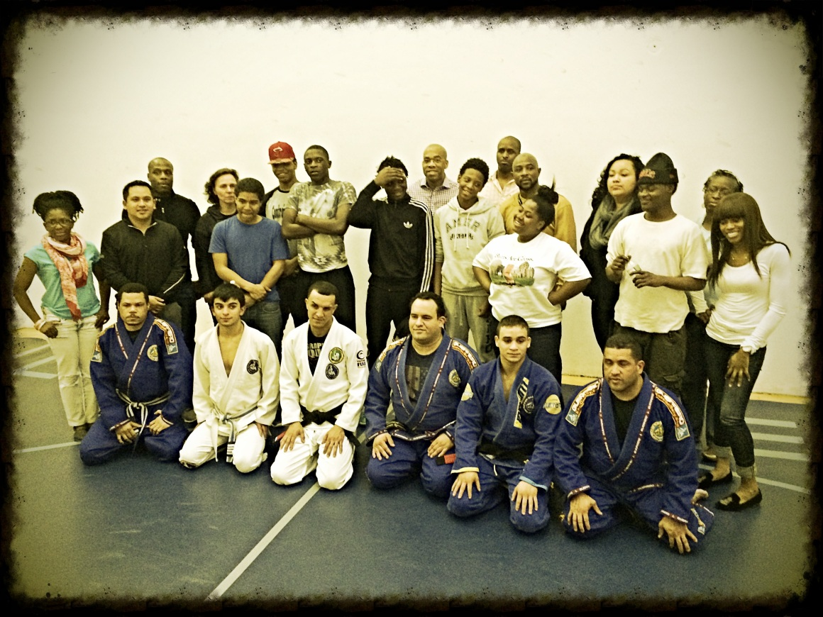 Some of our mentors and the kids at a recent Martial Arts seminar given by Guerrero Brazilian JiuJitsu.
